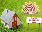Soon Lands Will Have Aadhaar Link