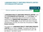 One Page Website Firm Landomus Reality Offers 500 Billion Investment