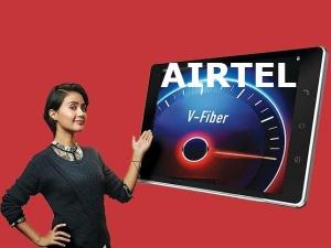 Airtel V Fiber Free Unlimited Data Free Call Hd Video 3 M
