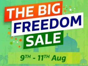 Flipkart Amazon Big Freedom Sale Announced