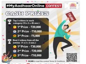 Uidai Start My Aadhaar Online Contest Win Up To Rs 30