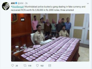 West Bengal Rs 5 96 Lakh Fake Notes Seized