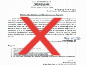 Itr Filing Deadline Extension Notification Fake Income Tax