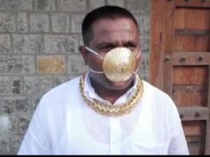 Pune Man Shankar Kurade S Gold Face Mask Now Viral On Social Media